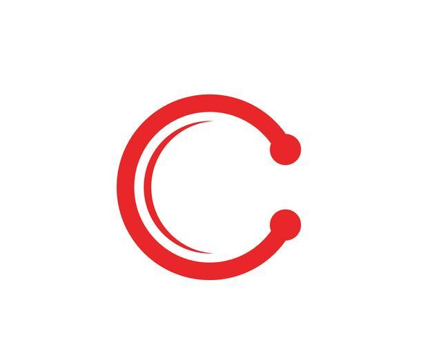 C Logo Lettre Modèle Design Vecteur