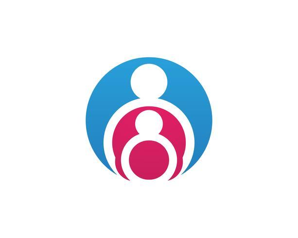Annahme- und Gemeindepflege Logo-Schablonenvektorikone.