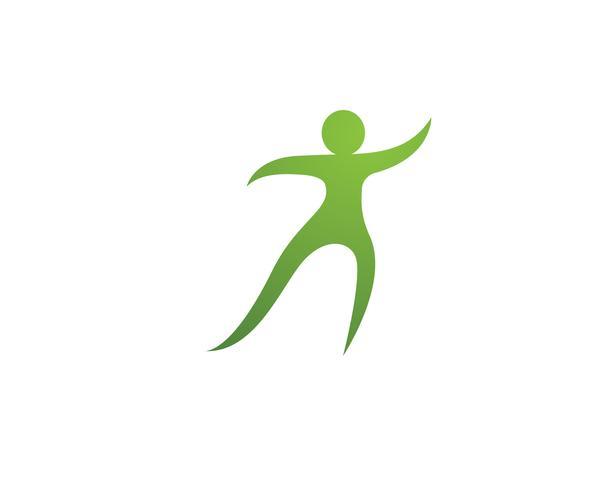 gente cuidado éxito salud vida logotipo plantilla iconos ...