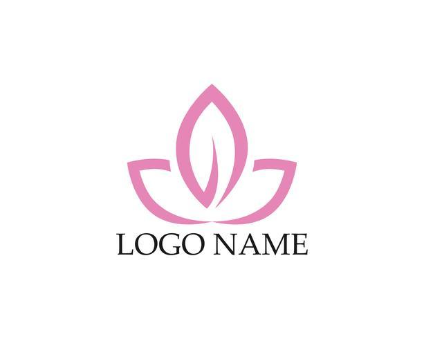 Belleza Vector flores diseño logo plantilla icono