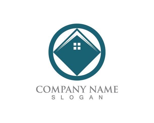 Casa simple casa iconos de logotipo de bienes raíces