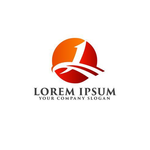 Plantilla de concepto de diseño de logotipo letra l