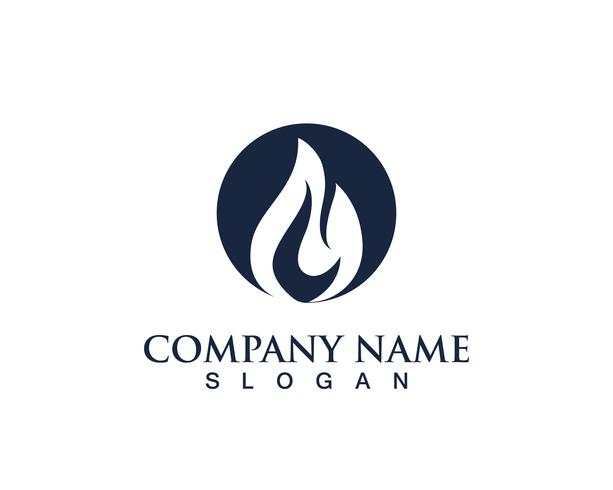 vuur vlam zwart natuur logo en symbolen pictogrammen sjabloon