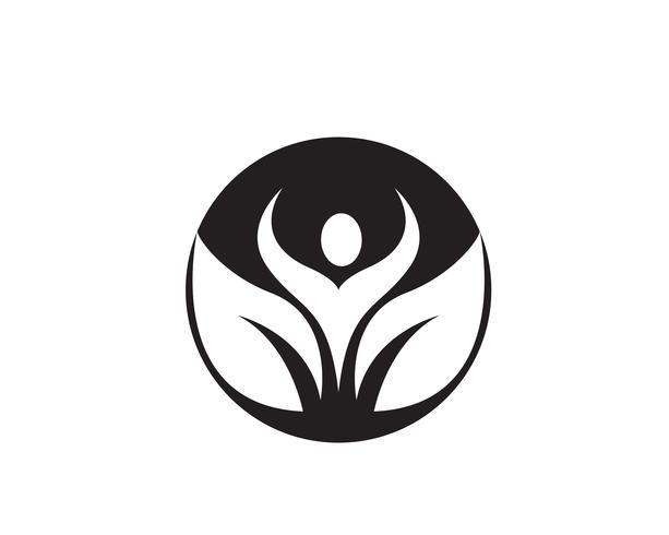 Menschen Pflege Erfolg Gesundheit Leben Logo Vorlage Symbole.