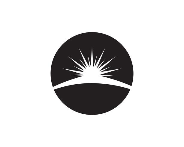 Sun logo y símbolos estrella icono web Vector - ..