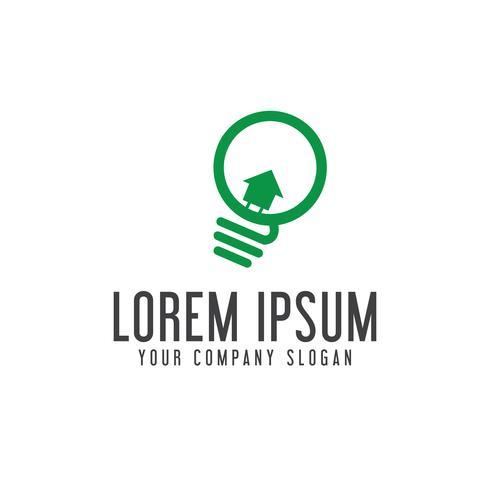 Glühbirne Immobilien Logo-Design-Konzept-Vorlage