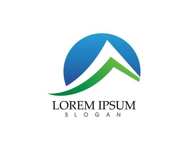Montaña naturaleza paisaje logotipo y símbolos iconos