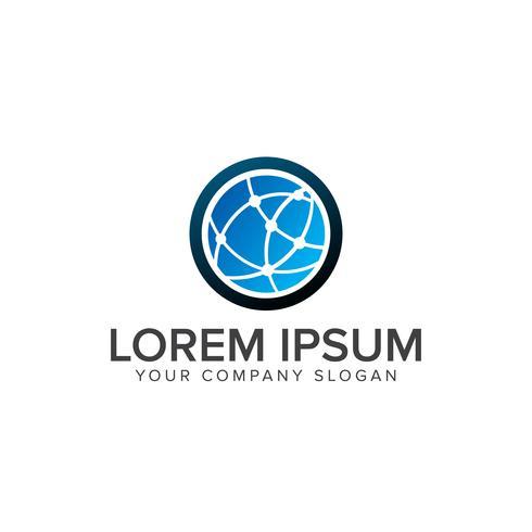 plantilla de concepto de diseño de logotipo de tecnología empresarial