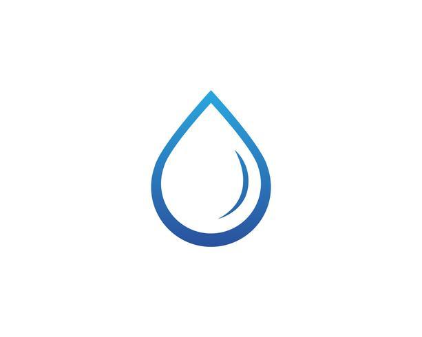 Logotipo de la naturaleza del agua y aplicación de iconos de plantilla de símbolos