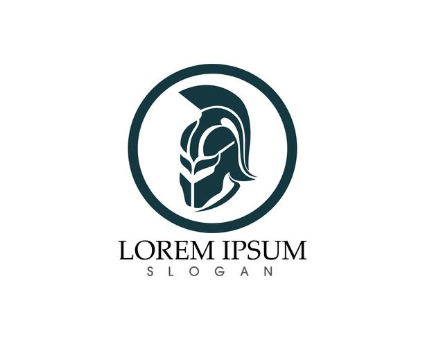 Modèle de logo et symboles de gladiateur masque warior