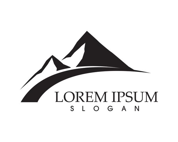 Plantilla de iconos de logotipo y símbolos de montaña naturaleza paisaje