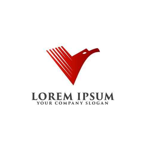 modello di concetto di progettazione logo aquila rossa