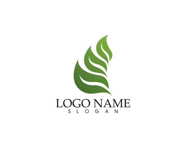 Ecología vector icono logotipo y plantilla de símbolo