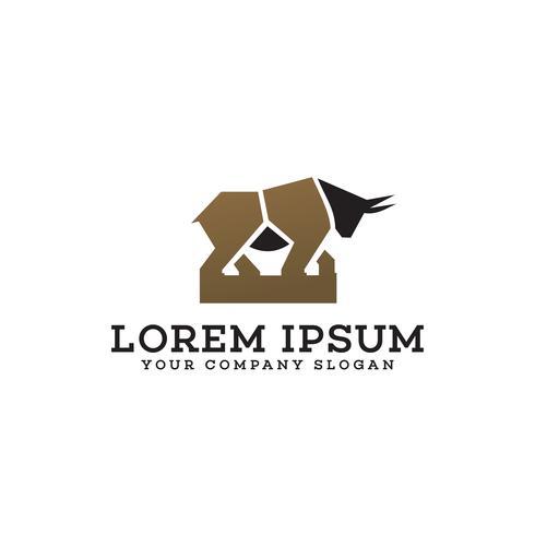 Stier-Logo-Design-Konzept-Vorlage