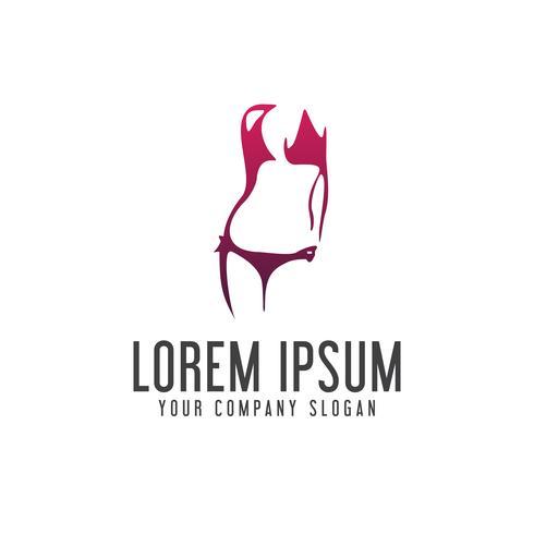 underkläder kvinna logo design koncept mall
