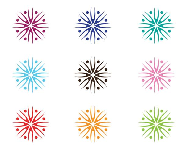 Logo de design beauté vecteur fleurs icône de modèle