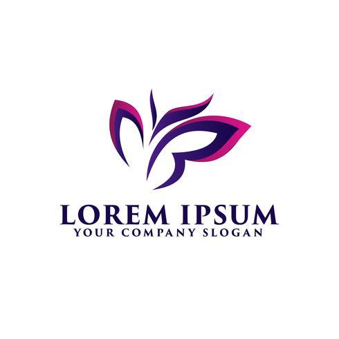 Logotipo de mariposa, plantilla de concepto de diseño de logotipo de belleza spa