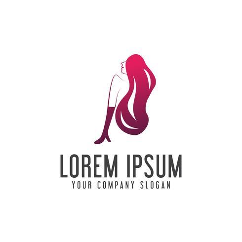 Plantilla de concepto de diseño de logotipo de belleza de mujer