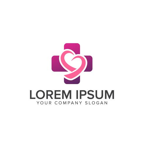 modelo de conceito de design de logotipo médico coração