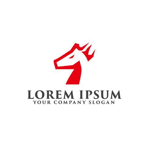 paard logo ontwerpsjabloon concept