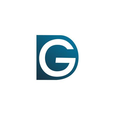 lettre d et g modèle de concept de logo design