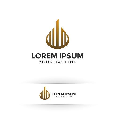 luxury real estate logo. Architectural Construction logo design concept template