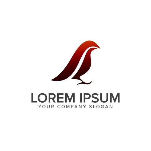 luxe vogel logo ontwerpsjabloon concept