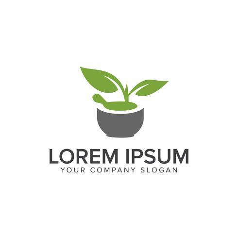 natuur groen medisch logo. apotheek ontwerpsjabloon concept vector