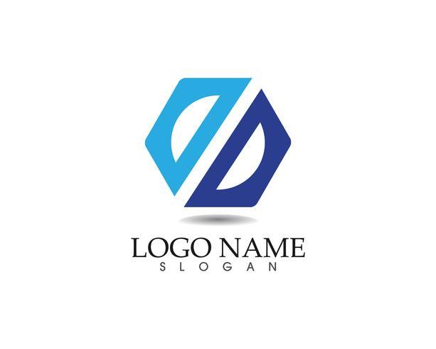 Modèle de conception d'entreprise logo abstrait et icônes