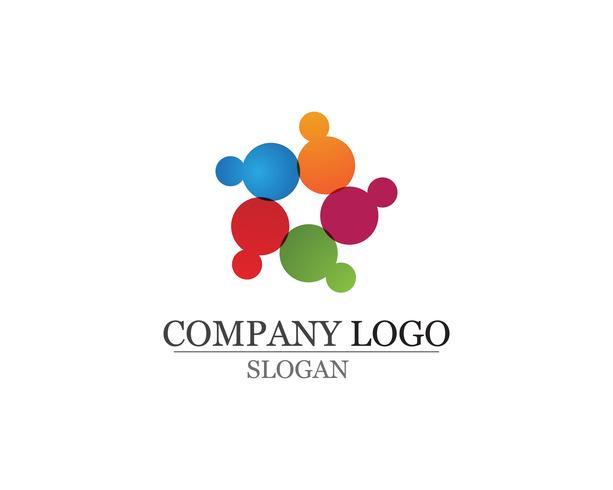 Gemenskapen omsorg logotyp och symboler mall vektor