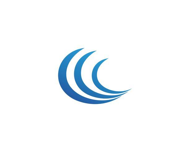 Waves beach logo och symboler mall ikoner app
