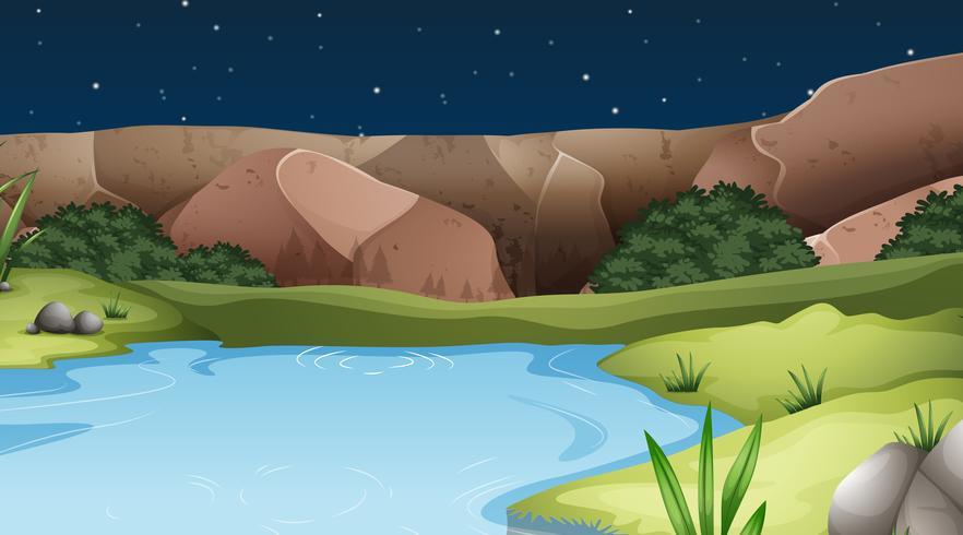 Un paesaggio di acqua naturale