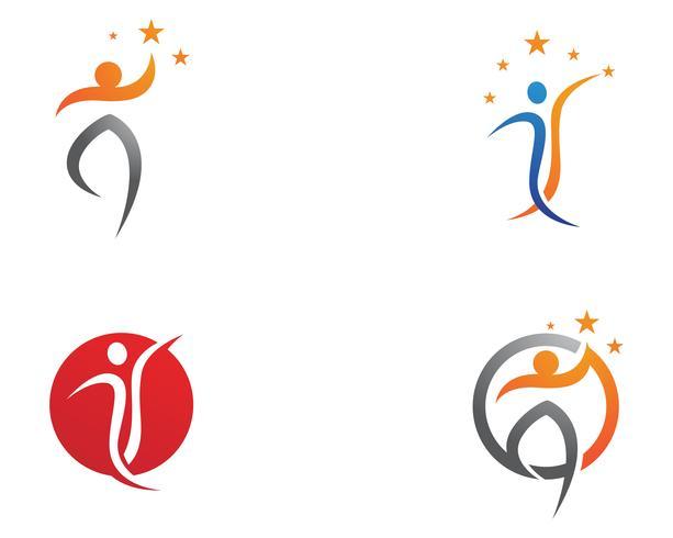 Hälsa logotyp Mall vektor mall ikoner app