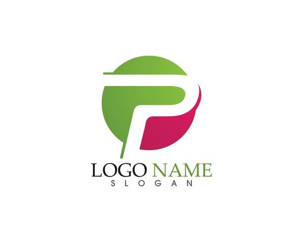 P logo design vektor Business företagsbrev