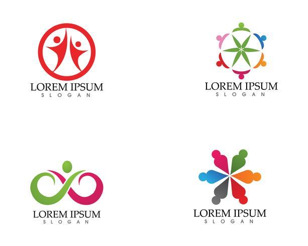 Gemenskapens omsorg logotyp och symboler mall ..