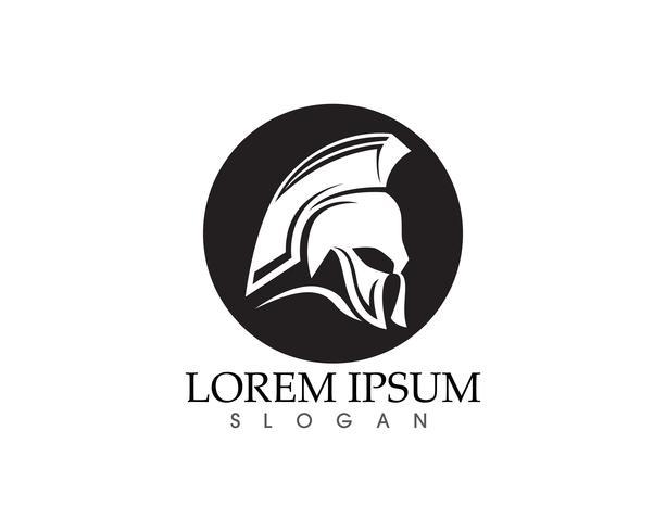 Masque de guerrier Chevalier Titan Sparta Spartan Simple Silhouette