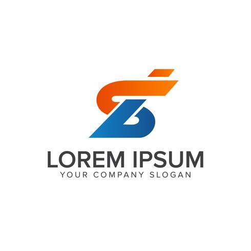 carta seb modelo de conceito de design de logotipo