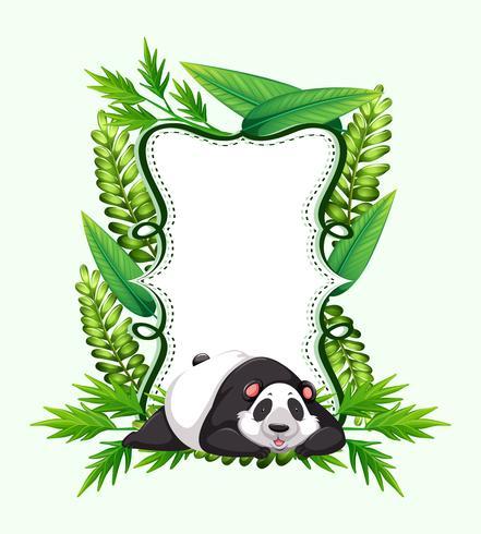 Ram mall med söt panda