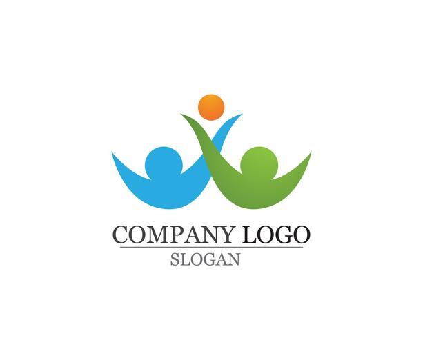 Antagande och samhällsvård Logo mall vektorikoner