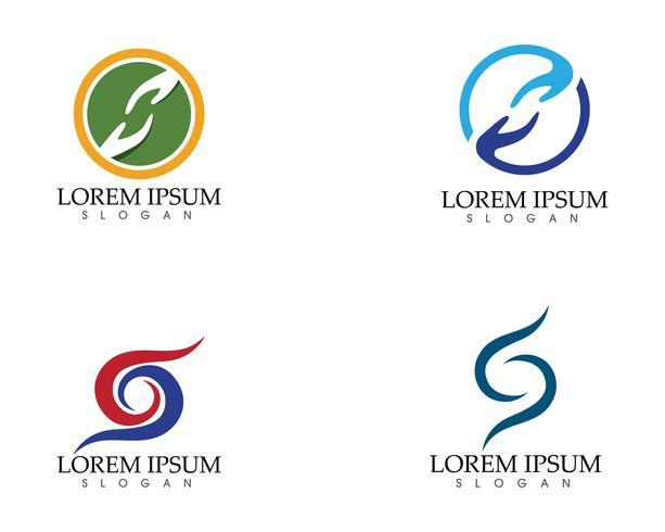 Hand hjälp logotyper och symboler mall ikoner app ..