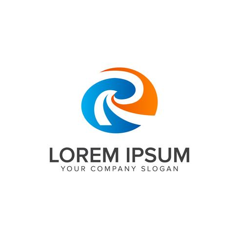 modelo de conceito de design de logotipo letra r