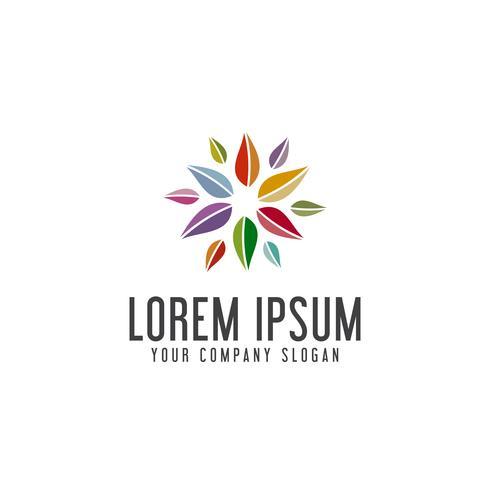 multicolor blad logo ontwerpsjabloon concept