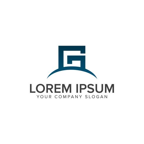 brev G logo design koncept mall