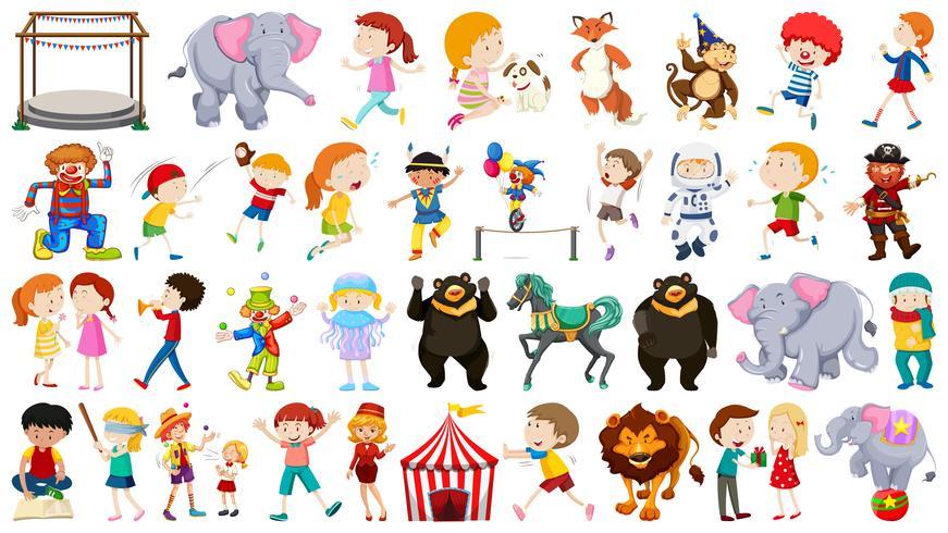 Ensemble à thème grand cirque