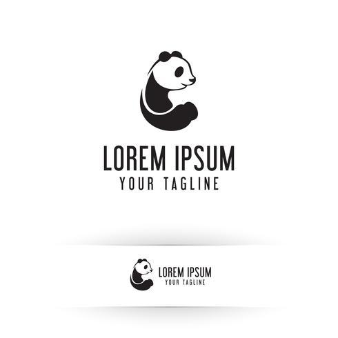 Panda-Logo. Tier-Logo-Design-Konzept-Vorlage