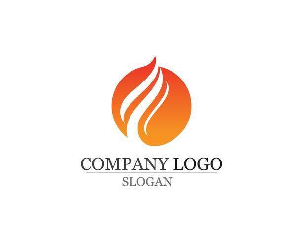 Fire flame naturlogotyp och symboler ikoner mall