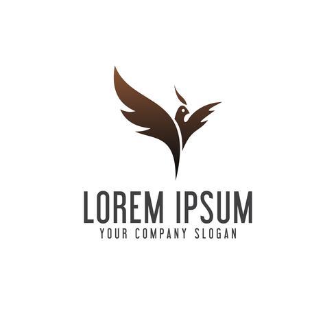 logo phoenix. modello di concetto di uccello logo design