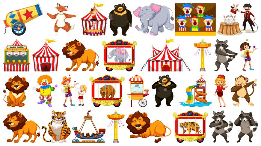 Conjunto de objeto de circo