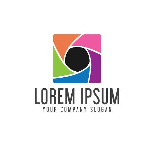 Medienlogo. Fotografie-Logo-Design-Konzept-Vorlage