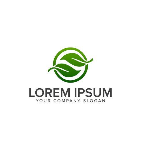 modelo de conceito de design de logotipo de folha de letra s